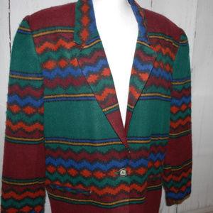 Vintage Index by Melrose blazer aztec Large